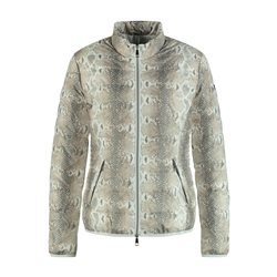 Taifun Quilted Snake Print Jacket Off White