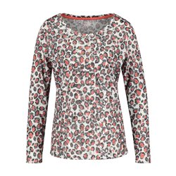 Taifun Patterned Top With Kisses Red
