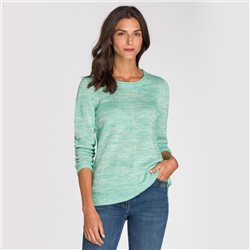 Olsen Roll Neck Jumper Green