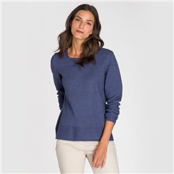 Olsen Square Neck Jumper Blue