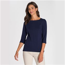 Olsen Square Neck Top Navy