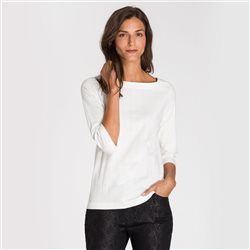 Olsen Square Neck Top Off White