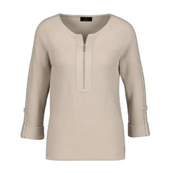 Monari Zip Detail Jumper Beige