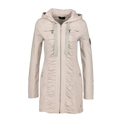 Monari Mid Length Zip Jacket Beige