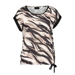 Monari Zebra Print Top Black