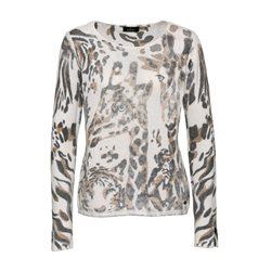 Monari Animal Print Jumper Beige