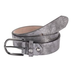 Monari Velour Coated Belt Grey