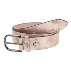 Monari Velour Coated Belt Beige