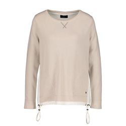 Monari Jumper With Drawstring Detail Beige