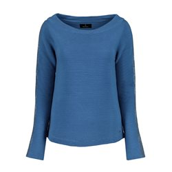 Monari Sparkle Sleeve Jumper Blue