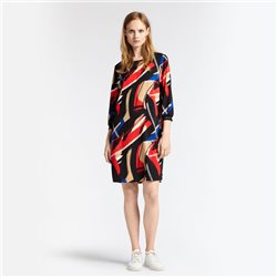 Sandwich Art Print Dress Red