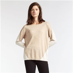 Sandwich Geometric Design Jumper Beige