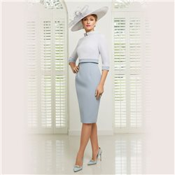 Ronald Joyce 991504 Dress And Jacket Light Blue