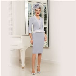 Ronald Joyce 991536 Dress Light Blue
