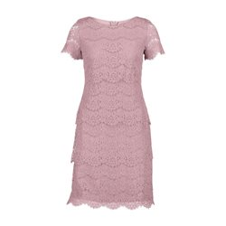 Vera Mont Short Sleeve Lace Dress Pink
