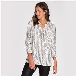 Olsen Chain Print Blouse Off White