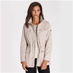 Olsen Windbreaker With Two Way Zip Beige
