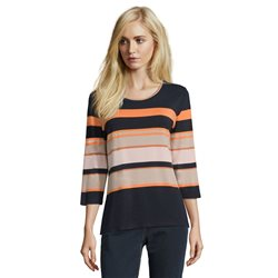 Betty Barclay 3/4 Sleeve Striped Top Blue