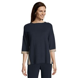 Betty Barclay Ribbed Jersey Top Blue