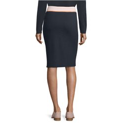 Betty Barclay Ribbed Jersey Skirt Blue