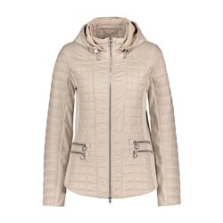 Betty Barclay Padded Jacket With Hood Beige