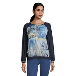 Betty Barclay Long Sleeve Graphic Print Top Blue