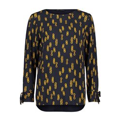 Betty Barclay Chain Print Blouses Blue