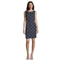 Betty & Co Circle Print Dress Blue