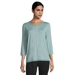 Betty & Co Chiffon Trimmed Top Mint