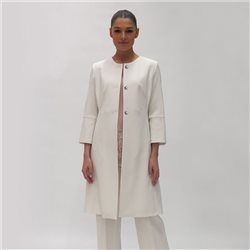 Fee G Long Coat Cream