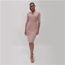 Fee G Crepe Pencil Dress Blush