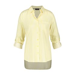 Taifun Striped Shimmer Blouse Yellow
