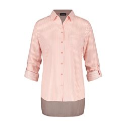 Taifun Striped Shimmer Blouse Pink