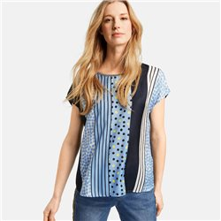 Taifun Spot And Stripe Top Blue