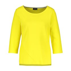 Taifun 3/4 Sleeve Ribbed Top Yellow