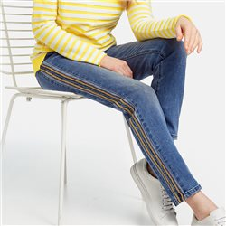 Taifun Skinny Jeans With Stripe Detail Blue