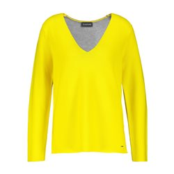 Taifun Jumper With Contrast Back Yellow