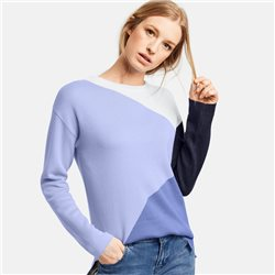 Taifun Colourblock Jumper Blue