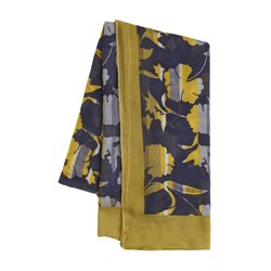 Sandwich Floral Print Scarf Navy