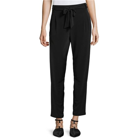 Betty & Co Jersey Trouser With Tie Black  - Click to view a larger image