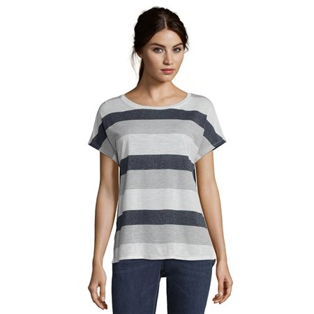 Betty & Co Striped Top Blue  - Click to view a larger image