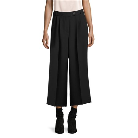 Betty & Co Textured Culottes Black  - Click to view a larger image