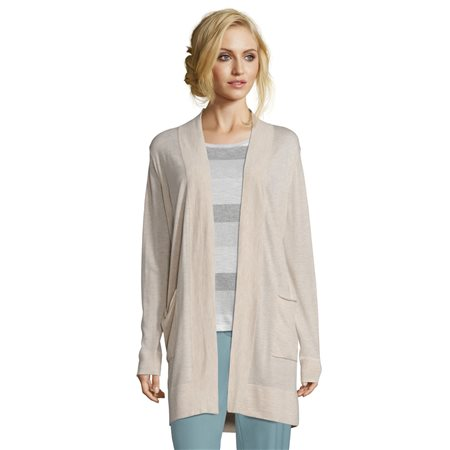 Betty & Co Fine Knit Cardigan Beige  - Click to view a larger image