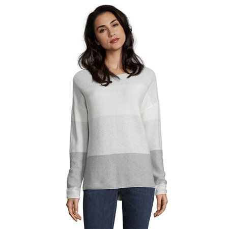 Betty & Co Colour Block Jumper Silver  - Click to view a larger image