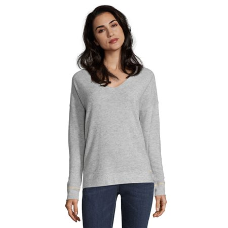 Betty & Co Ribbed Jumper Silver  - Click to view a larger image