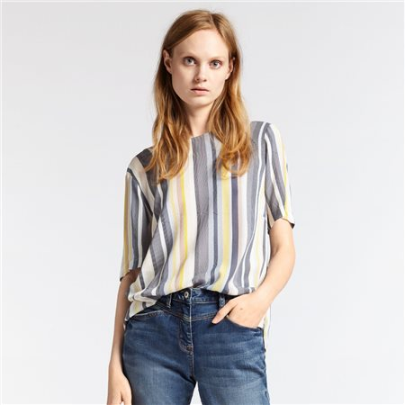 Sandwich Striped Top Yellow  - Click to view a larger image