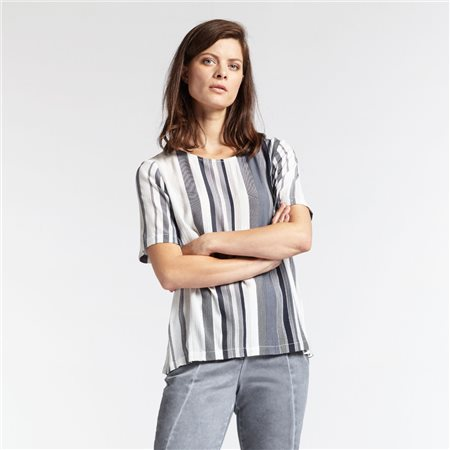 Sandwich Striped Top Navy  - Click to view a larger image