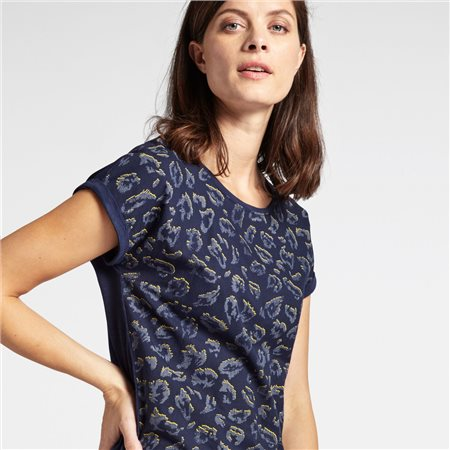 Sandwich Printed Front Top Navy  - Click to view a larger image