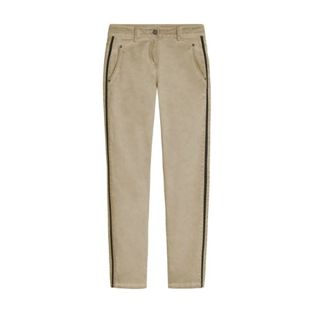 Sandwich Verona  Relaxed Fit Trousers With Piping Camel  - Click to view a larger image