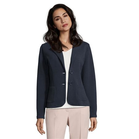 Betty Barclay Unlined Waffle Blazer Navy  - Click to view a larger image